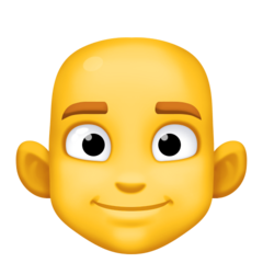 How Man: Bald emoji looks on Facebook.