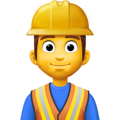 How Man Construction Worker emoji looks on Facebook.