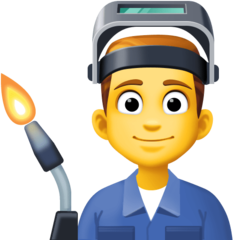 How Man Factory Worker emoji looks on Facebook.