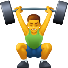 How Man Lifting Weights emoji looks on Facebook.