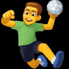 Hombre jugando al balonmano Emoji 🤾♂️