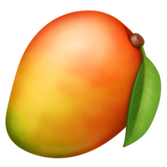 How Mango emoji looks on Facebook.