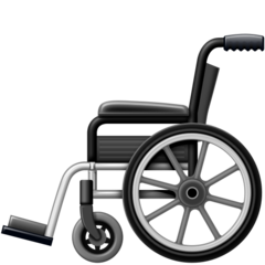 How Manual Wheelchair emoji looks on Facebook.