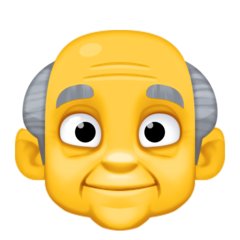 How Old Man emoji looks on Facebook.