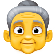 How Old Woman emoji looks on Facebook.