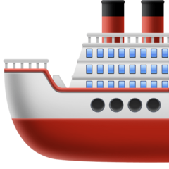 How Ship emoji looks on Facebook.