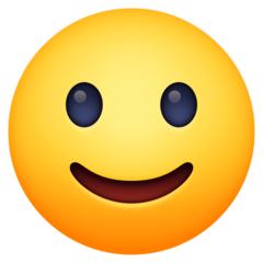 How Slightly Smiling Face emoji looks on Facebook.