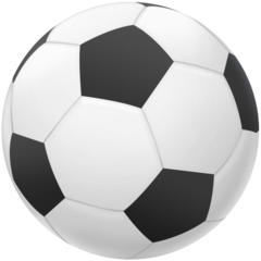 How Soccer Ball emoji looks on Facebook.