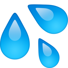 How Sweat Droplets emoji looks on Facebook.