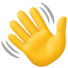 How Waving Hand emoji looks on Facebook.
