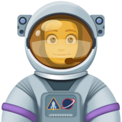 How Woman Astronaut emoji looks on Facebook.