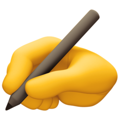 How Writing Hand emoji looks on Facebook.