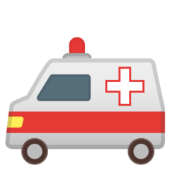 How Ambulance emoji looks on Google.