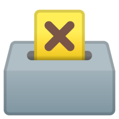How Ballot Box with Ballot emoji looks on Google.