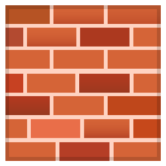 How Brick emoji looks on Google.