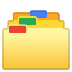 How Card Index Dividers emoji looks on Google.