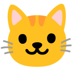 How Cat Face emoji looks on Google.