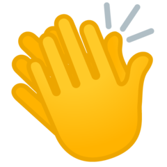 How Clapping Hands emoji looks on Google.