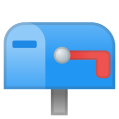 How Closed Mailbox with Lowered Flag emoji looks on Google.