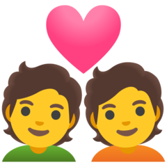 How Couple with Heart emoji looks on Google.