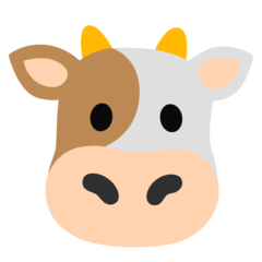 How Cow Face emoji looks on Google.