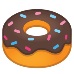 How Doughnut emoji looks on Google.