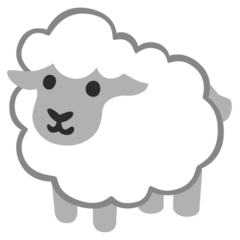 How Ewe emoji looks on Google.