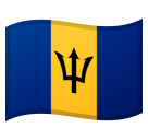 How Flag: Barbados emoji looks on Google.