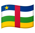 How Flag: Central African Republic emoji looks on Google.