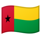 How Flag: Guinea-Bissau emoji looks on Google.