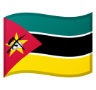 How Flag: Mozambique emoji looks on Google.
