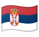 How Flag: Serbia emoji looks on Google.