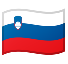 How Flag: Slovenia emoji looks on Google.