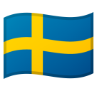 How Flag: Sweden emoji looks on Google.
