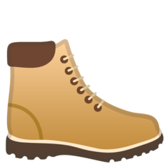 How Hiking Boot emoji looks on Google.