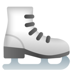 How Ice Skate emoji looks on Google.