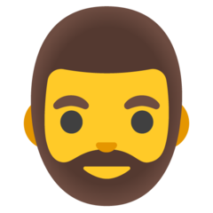 How Man: Beard emoji looks on Google.