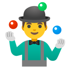 How Man Juggling emoji looks on Google.