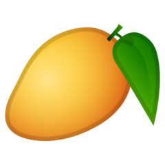 How Mango emoji looks on Google.