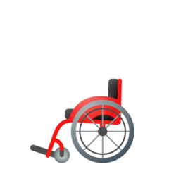How Manual Wheelchair emoji looks on Google.