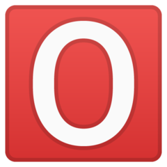How O Button (Blood Type) emoji looks on Google.