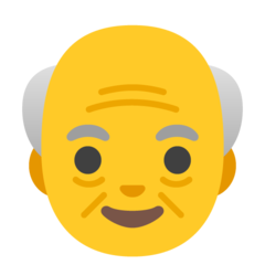 How Old Man emoji looks on Google.
