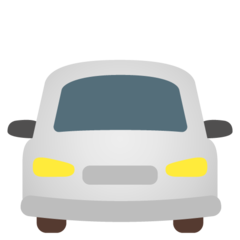 How Oncoming Automobile emoji looks on Google.