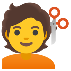 How Person Getting Haircut emoji looks on Google.