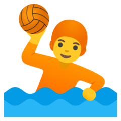 How Person Playing Water Polo emoji looks on Google.