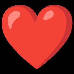 Kırmızı kalp emojisi Google üzerinde nasıl görünüyor.
