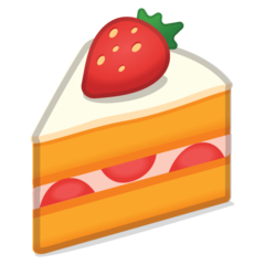 How Shortcake emoji looks on Google.