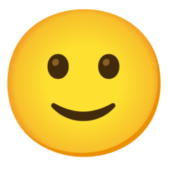 How Slightly Smiling Face emoji looks on Google.
