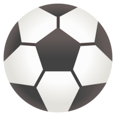 How Soccer Ball emoji looks on Google.