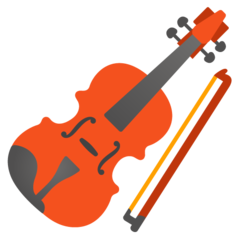 How Violin emoji looks on Google.